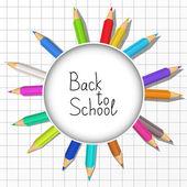 Fondo de escuela — Vector de stock