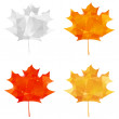 Set of autumn maple icons — Stockvektor