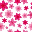 Seamless pattern with pink flowers — Stock Vector #29030369