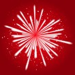 Firework on red — Stock Vector