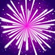 Firework on purple — Stock Vector