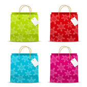 Set of Christmas paper bags — Vector de stock