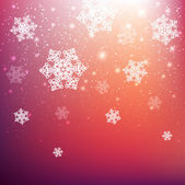 Christmas background with white snowflakes — Stock Vector