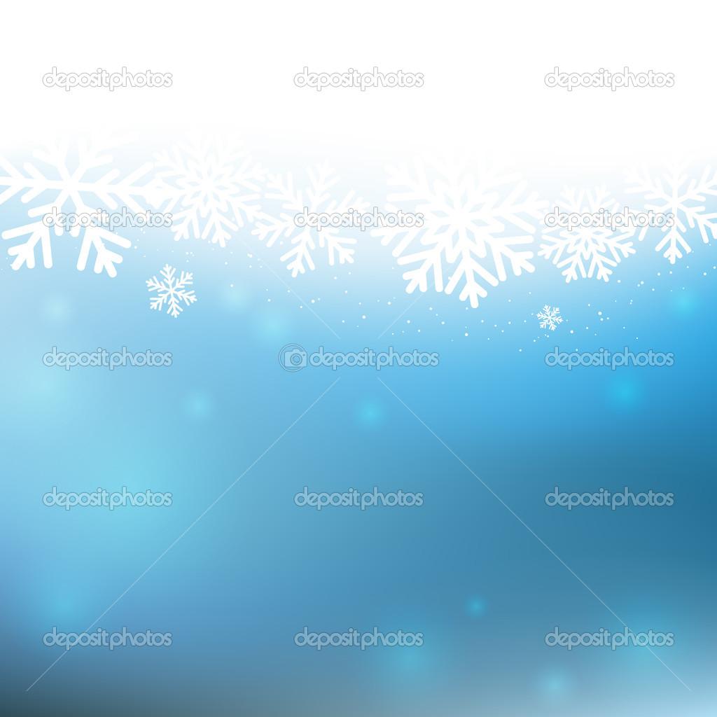 与白色的雪花圣诞背景