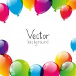 Birthday background with color balloons — Stock Vector #31453245
