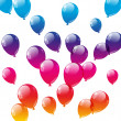 Color balloons on white background — 图库矢量图片
