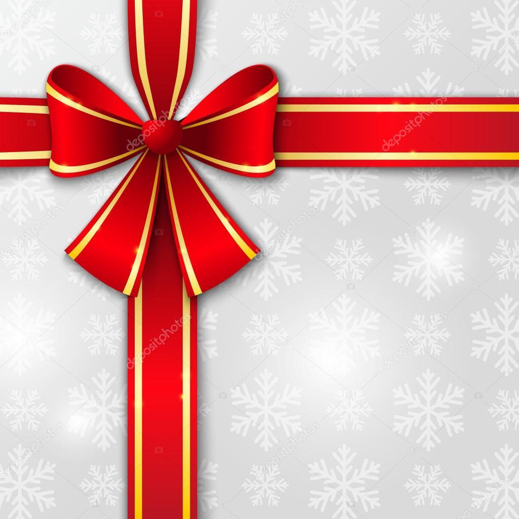 weihnachten hintergrund mit roter schleife stockvektor. Black Bedroom Furniture Sets. Home Design Ideas