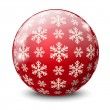 Christmas glossy ball — Stock Vector