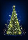 Shiny Christmas tree — Stock Vector