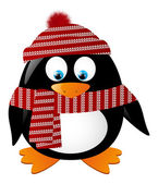 Cute penguin isolated on white — Stock Vector