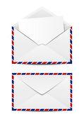 Avia post mails on white — Stock Vector