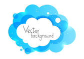 Color cloud element — Stock Vector