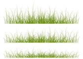 Set of vector grass borders — Stock Vector