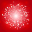 Stock Vector: Shiny fireworks