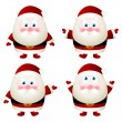 Set of cute Santa characters — Imagen vectorial