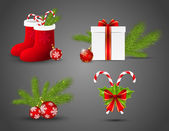 Set of vector Christmas icons — Stock Vector
