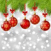 Ramas de los árboles de navidad — Vector de stock