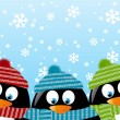 Cute penguins — Vector de stock #33754151