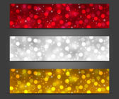 Set of shiny Christmas banners — Stock Vector
