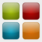 Set of apps icons with knitted pattern — Stock Vector