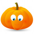 Cute Halloween pumpkin on white — Stock Vector