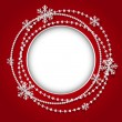 Round frame with Christmas white garland — Stock Vector #34125421