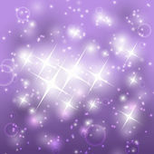 Shiny purple background with stars — Stock Vector