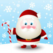 Cute Santa with sweet candy — Stock Vector
