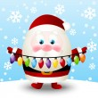 Cute Santa with light bulbs — Stock vektor