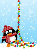 Cute penguin — Stock Vector