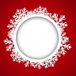 Round Christmas frame — Stock Vector