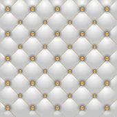 Luxe witte achtergrond met gouden knopen — Stockvector