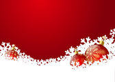 Christmas background with red balls 5 — Stockvector