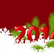 Christmas background with 2014 numbers — Imagen vectorial