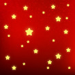 Shiny stars on red background — Vektorgrafik
