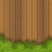 Rami di albero di natale sullo sfondo in legno — Vettoriale Stock