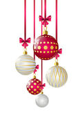 Christmas balls on white background — Stock Vector