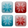 Set of knitted apps icons — Stock Vector #36561465