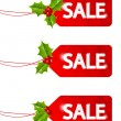 Set of Christmas sale tags — Stock Vector