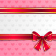 Valentine background with pink ribbon — Stock Vector #38715871