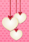 Valentine card with paper hearts — Stock Vector