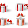 Gift boxes with red ribbon — Stock Vector #38770869