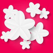 Vitt papper blommor — Stockvektor