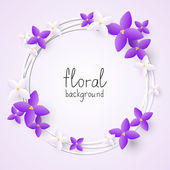 Lilac flowers frame — Stock Vector