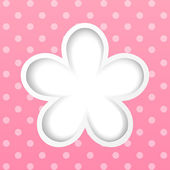 Paper flower on pink background — Stock Vector