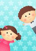 かわいい子供たち — ストックベクタ