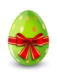 Easter egg with red ribbon — Stock Vector