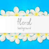 Floral border with place for text — Stock Vector