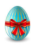 Easter egg with red ribbon — Vector de stock