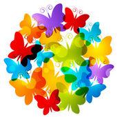 Mariposas del arco iris — Vector de stock